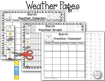 MORNING WORK Calendar Time Worksheets - March - Common Core