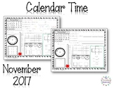 MORNING WORK - November Calendar Time