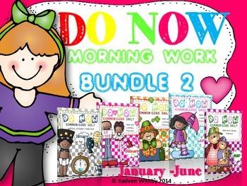 MORNING WORK (DO NOW BUNDLE 2) JAN-JUNE