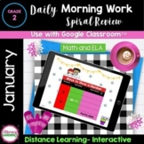 MORNING WORK & SPIRAL REVIEW for 2nd Grade - JANUARY Googl