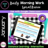 MORNING WORK & SPIRAL REVIEW for 3rd Grade - JANUARY Googl