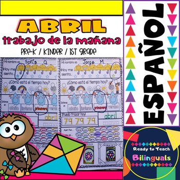 MORNING WORK in SPANISH - Trabajo de la Mañana - Set de Abril