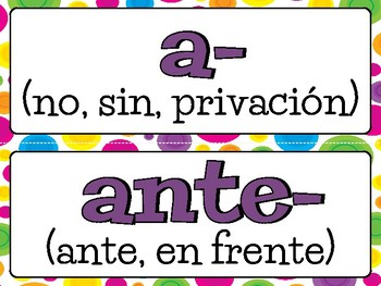 ROOTS & AFFIXES Workstation - in SPANISH!