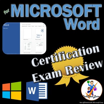 certification exam review for mos microsoft word 2016 by techcheck