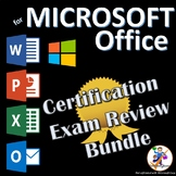 Certification Exam Review Prep Bundle for MOS Office 2016 - Word, Excel, PP...