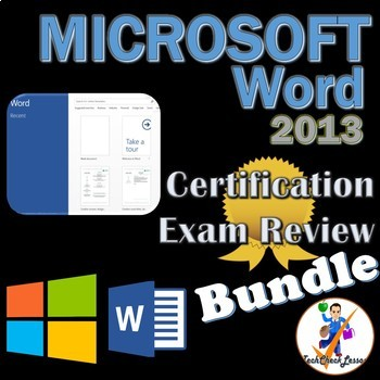 review bundle for mos microsoft word 2013 certification exam 6 preps