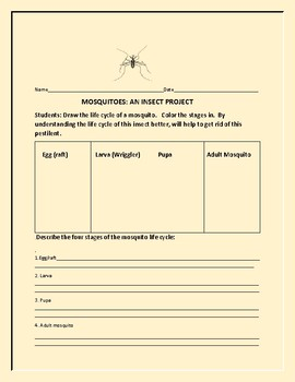 MOSQUITOES: AN INSECT SCIENCE PROJECT