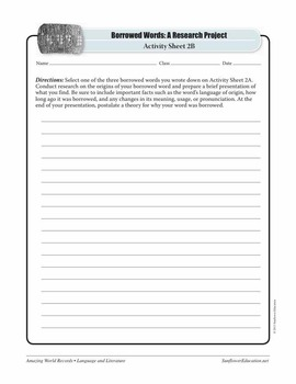 MOST WIDESPREAD LANGUAGE FAMILY: INDO-EUROPEAN—Language Worksheets & Activities