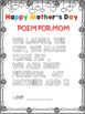 MOTHER'S DAY BOOKLET  OR  SIMPLE CARDS