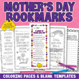 MOTHER'S DAY BOOKMARKS Compliments Coloring Pages for Mum - A4