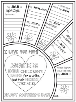 MOTHER'S DAY CARD WRITING AND COLORING ACTIVITIES - SET 3