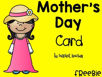 MOTHER'S DAY CARD FREEBIE