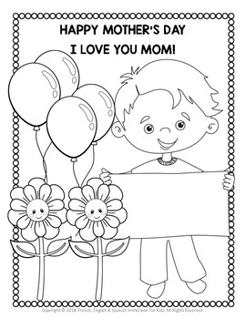 MOTHER'S DAY COLORING PAGES - COLOUR AND WRITE A MESSAGE FOR MOM!