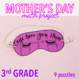 MOTHER'S DAY CRAFT - THIRD GRADE EYE MASK MATH PROJECT