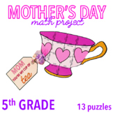 MOTHER'S DAY CRAFTS - FIFTH GRADE MATH - TEA CUP
