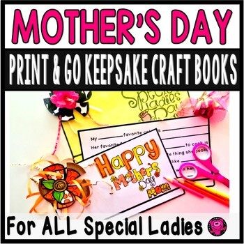 Mother's Day Simple Fun Easy Craft Print and Go Activity for All Special Women