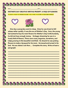 MOTHER'S DAY PROMPT: A FIELD OF FLOWERS