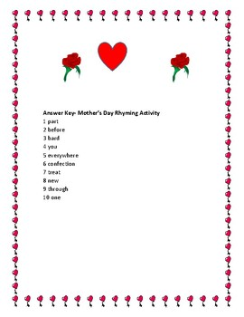 MOTHER'S DAY RHYMING ACTIVITY