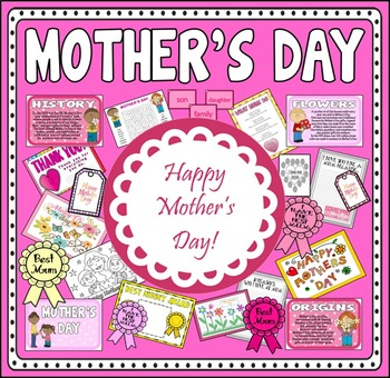 MOTHER'S DAY TEACHING RESOURCES EYFS KS1-2 CELEBRATIONS TR