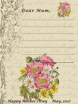 MOTHER'S DAY WRITING ACTIVITIES - LETTER FOR MOM