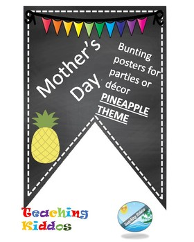 MOTHER'S DAY decoration- tropical / pineapple theme
