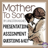 MOTHER TO SON BY LANGSTON HUGHES PRESENTATION & ASSIGNMENTS