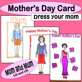 MOTHER's DAY CARD cut out and dress mother UNIQUE!