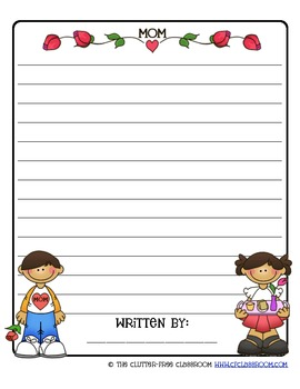MOTHER'S DAY: A differentiated writing resource for grades K-5