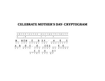 MOTHER'S DAY CRYPTOGRAM