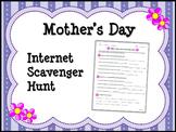 MOTHER'S DAY Internet Scavenger Hunt Worksheet