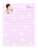 MOTHERS DAY LETTER WRITING TEMPLATES, BUNDLE 18 PAGES, MOT