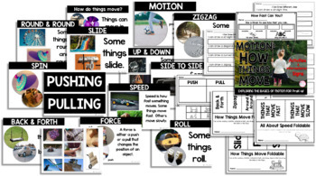 MOTION: How Things Move (PreK/Kinder/1st) (TEKS & CCSS Aligned)