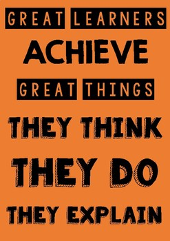 MOTIVATION POSTER - Great Learners Great Things