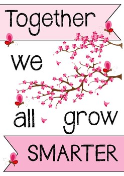 MOTIVATION POSTER - Together We Grow Smarter