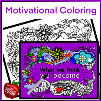 MOTIVATIONAL COLORING PAGE
