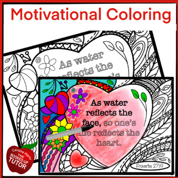 MOTIVATIONAL COLORING PAGE {RELIGIOUS COLORING PAGE} {PROVERBS COLORING}