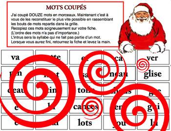 MOTS COUPÉS (NOËL)
