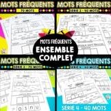 French Sight Words - MOTS FRÉQUENTS - SÉRIE 1-2-3-4  - MOT