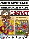 MOTS MYSTÈRES (GRATUIT) French color by code sight words