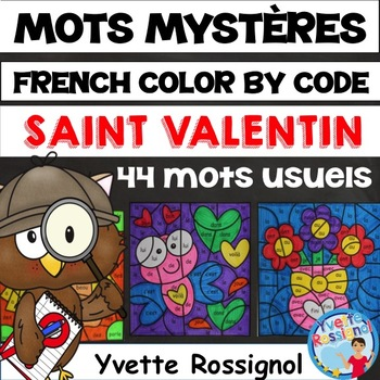 MOTS MYSTÈRES (La Saint Valentin) French Valentine, Mots usuels, sight words