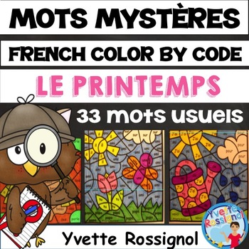 MOTS MYSTÈRES (Le printemps) French Spring
