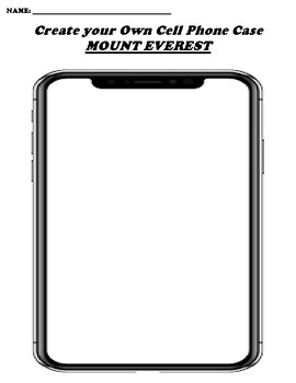 MOUNT EVEREST CREATE YOUR OWN CELL PHONE COVER