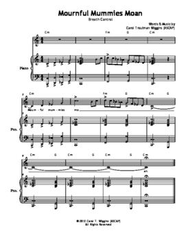 MOURNFUL MUMMIES MOAN Vocal Warmup