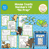 """MOUSE COUNTS NUMBERS 1-10 """"NO PREP"""""""