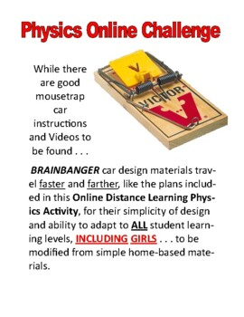 Mouse Trap Design Challenge Online Distance Learning Science Activity