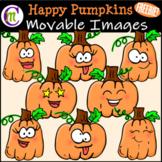 Happy Pumpkins Clipart FREEBIE || MOVABLE IMAGES CLIPART