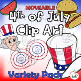 MOVEABLE 4th of July Clip Art Variety Pack for Digital, Pr