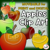 MOVEABLE Apples Clip Art for Digital Products, Printable P
