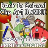 MOVEABLE Back to School Clip Art Bundle for Digital, Print