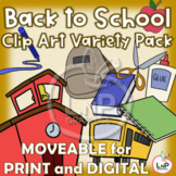 MOVEABLE Back to School Clip Art Variety Pack for Digital,